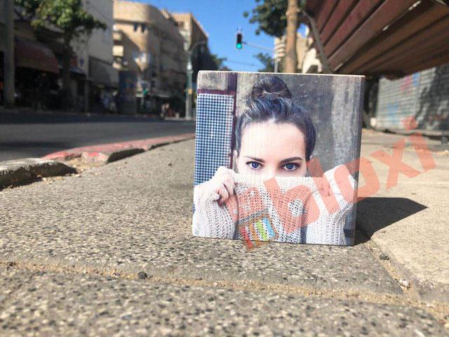 בלוק עץ עם תמונה בלוקסי