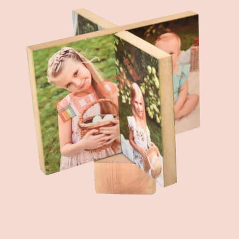 בלוק עץ מסתובב 8 תמונות