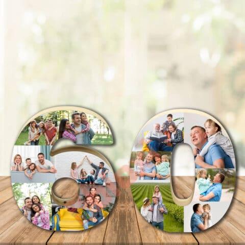 זוג ספרות בלוק עץ עם תמונות בלוקסי