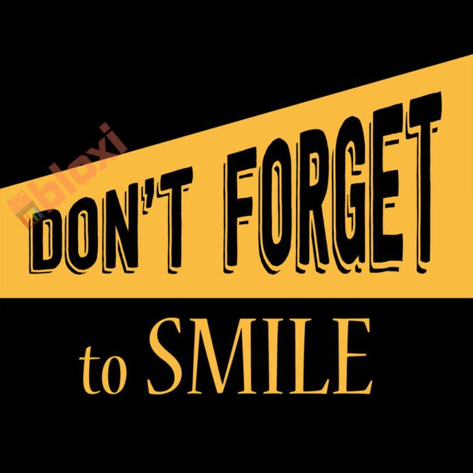 בלוק השראה dont forget to smile 17x17