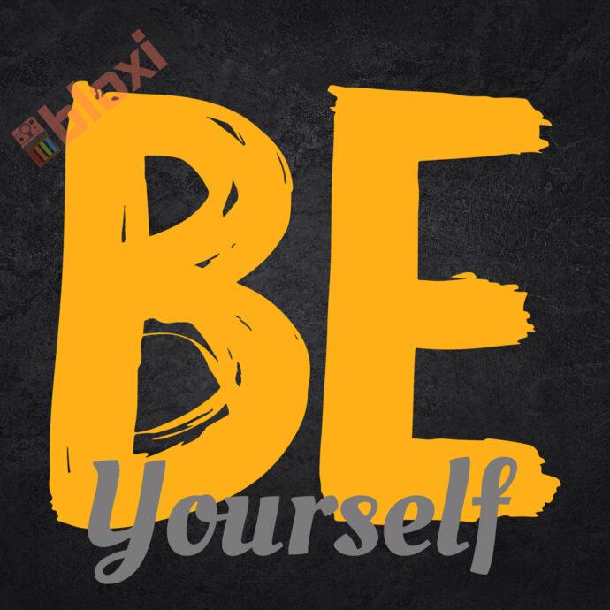 בלוק השראה Be yourself 17x17