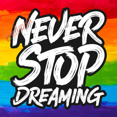 בלוק השראה Never stop dreaming 17x17