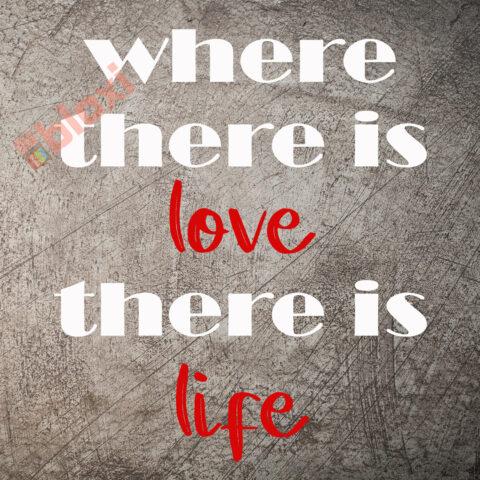 בלוק השראה Where there is love 17x17