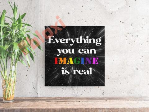 בלוק השראה Everything you can imagine 17x17