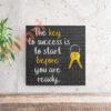בלוק השראה Key to success 17x17
