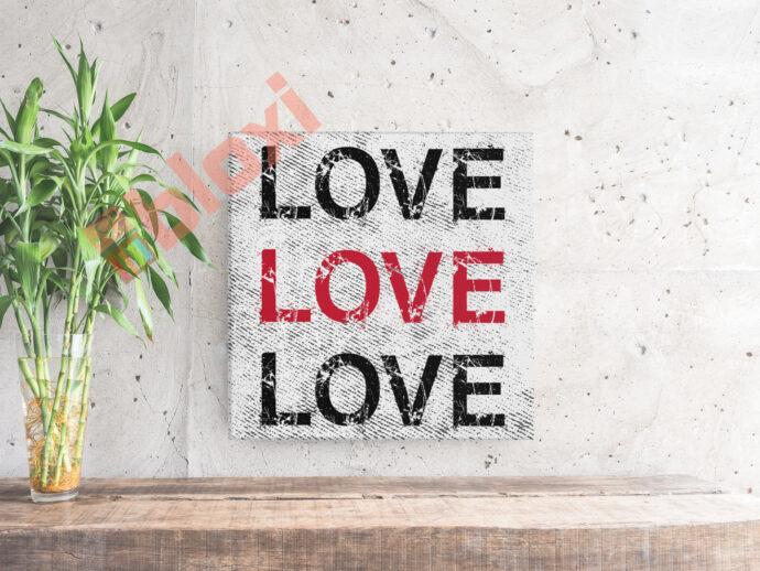 בלוק השראה Love Love Love 17x17