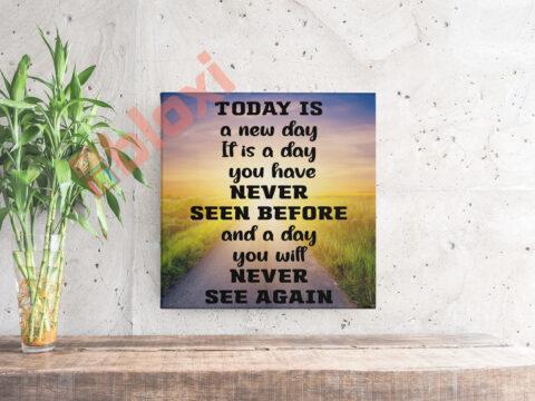 בלוק השראה Today is a new day 17x17