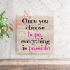 בלוק השראה Everything is possible 17x17
