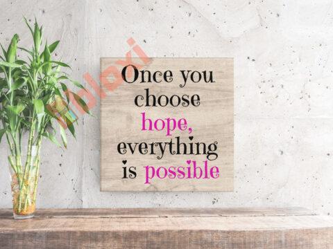 בלוק השראה Everything is possible 17x17